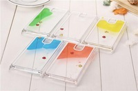 Freely Swimming Fish Movable Hard Shockproof Case Cover Skin for Samsung Galaxy Note 3 N9000 + Screen protector