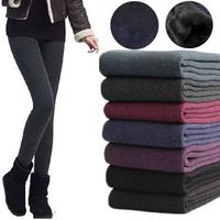 2014 New Winter Pants Women Thicken Fleeces Warm Leggings Fashion Loose Pencil Pants Boots Trousers Plus Size 13392.E