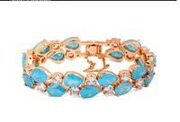 New Arriva Jewllery Ice Cubic Zirconia Diamond  Lady's bracelet 1pc 17/19CM