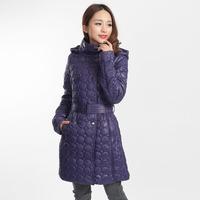 2014 winter thin medium-long cotton-padded jacket women outerwear fashion top slim autumn and winter . 9