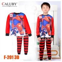 Boys Captain Pajamas Sets Big Kids Autumn -Summer Clothing Set New 2014 Wholesale 8-12Y Cartoon Pyjamas F-141