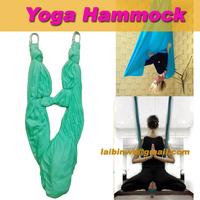5m Length/full set Aerial Yoga Hammock fabric pilates band  Yoga Inversion Swing Trapeze Anti-Gravity equipment fitness Workout