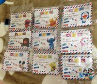 Clearance sale Christmas Gift canvas waterproof pouch bag coin purse envelope bag cartoon heart zip closure