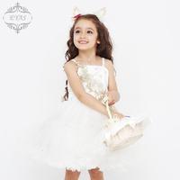 2014 new summer roupas meninas baby girls dress 2014 flower girl floral  sleeveless lace dresses princess wedding dresses