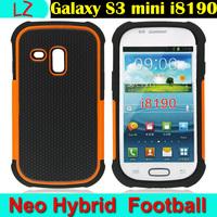 Hot Selling Heavy Duty Rugged PC Rubber Neo Hybrid Hard Back Case Cover Fundas Capa Para for Samsung Galaxy S3 S III mini i8190