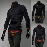 Longa- sleeve t- shirt for fall 2014 men's polo shirt 100% cotton t once- down collar shirt men clothes BW08