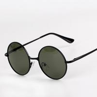 Fashion vintage circle sunglasses prince's polarized mirror sun glasses round sunglasses