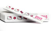 women lovely kitty Nail Buffer Nail Tools Nail Polish Professional Nail Files Buffer Buffing Slim Sandpaper 10*2 cm