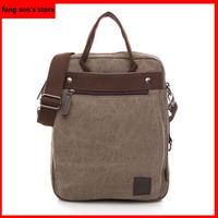 The new retro Korean fashion casual canvas shoulder bag Messenger bag man bag tide