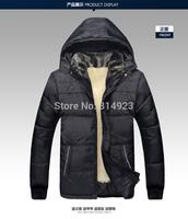 Thick plush interior warm Dad Men Winter coat Padded cotton jacket Middle-Aged Men Padded Loose Plus Size men coat
