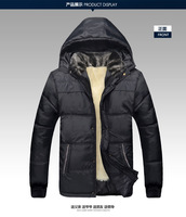 Thick plush interior warm Dad Men Winter coat Padded cotton jacket Middle-Aged Men Padded Loose Plus Size men coat