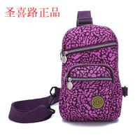 Casual bag sports bag women's handbag chest pack cotton prints nylon cloth 0899