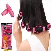 DIY Hair Styling Tools 2packs (6pcs/pack) Hair Rollers Sponge Soft Curler Beauty Flower Shape Hair ProductC Hair curler