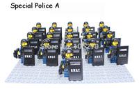21pcs SWAT Special Police Set Tactical Ops Minifigure compatible Building Block Star wars Brick accessory Enlighten