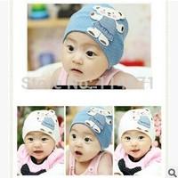 Free Shipping (10pcs/Lot)2014 Newborn Photography Props Photography Gorro Child Bear Cotton Cap Cartoon Hat Baby Applique Pocket