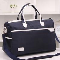 Waterproof European Large Capacity Men's/Women Luggage Travel Bags Ladies Tote Handbag Black Duffle Bag 2014 New Free Shipping