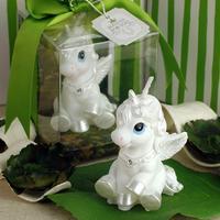 [1pc] creative children birthday smokeless candles party supplies idea white horse handmade soy wox candle child birthday candle