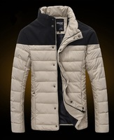 Free shipping 2014 Winter Men's Jacket / Male Casual stand collor Cotton-padded Down Coats