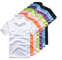 Free Shipping DIY collar men's styles men's or boys ' blanks t shirt