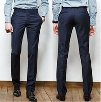 Free Shipping High Quality New Arrival Businessman Like Hot Sale Man Cotton Long Suit Pants Navy/Black