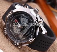 Watches men luxury brand T5 Sports Military Watch Dual time Digital Analog Quartz Watches Wristwatches Relogio Men Watch H3281G