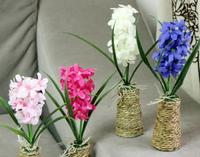 hot sale 4 colors Home Decorative silk grass, artificial flowers, plastic flowers 26cm mix color 4pcs/lot&free gift