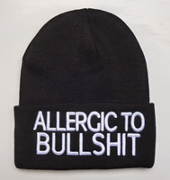 Allergic to bull shit beanies hats brand new  men & women's  fashion snapbacks  hats in black red grey hot sale !