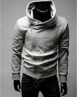 Free ShippingSlant zipper Hoodie sweater jacket clearance sale Korean version of slim fit men's Sweater Hoodie