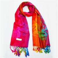 70*175cm 2014 New National Wind Gradient Butterfly Women Winter Wrap Shawl Pashmina Tassels Scarves