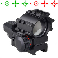 Holographic 4 Reticles Illuminated Tactical Red & Green Dot Reflex Sight Scope Rifle/Airsoft Gun Hunting