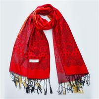 70*175cm 2014 New National Wind Gradient Cashews Women Winter Wrap Shawl Pashmina Tassels Scarves Free Shipping