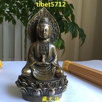14 cm tall Tibetan Buddhist bronze GUANYIN KWAN YIN AVALOKITOSHVARE buddha statue