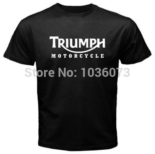 New TRIUMPH MOTORCYCLE Classic Logo Racing Men's Camisetas T Shirt Men Short Sleeve 100% Cotton Custom TShirt Casual Tees(China (Mainland))