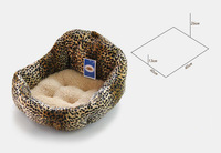 2014New Fashion Small Puppy Leopard Grain Dogs Kennel warm soft sofa doggy house Dog Bed Pet Bed Pet Product