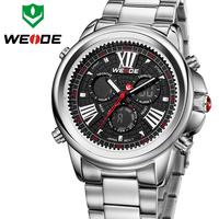 Newest Relojes de marca WEIDE Brand Wrist Watch Male Quartz Date Day Waterproof Watch Back Light Display Sports Watch Brand Top