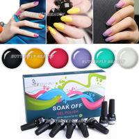 nail art Soak off gel polish set 6 Colors Polish  base coat Top Coat Set kit shellac nail uv gel varnish gel lacquer