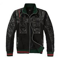 2014 New Men's Leisure Jacket Coat High Quality Zipper Outwear Black