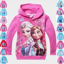 Hot Sell Frozen Children T shirt Baby Kids T-shirt Girls Boys  Hoodies Cartoon Clothing Tops 100% Cotton Sweatshirts wholesale(China (Mainland))