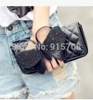 2014 new bow Quilted Clutch European and American vintage handbag shoulder bag fashion clutch bag