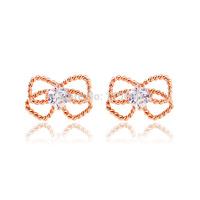Wedding rhinestone earrings for girls fashion jewelry accessories brand charm bowknot jewellery