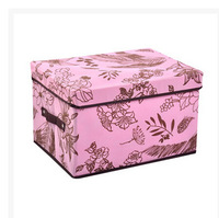 Household Flower non-woven folding thickened storage box for toys ,bedding,clothing ,underwear ,Eco-Friendly organizer case