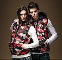 wholesale fashion pop camouflage lovers thick winter vests ,men vest jackets RZ-8863