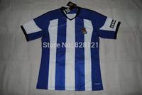 New ! A+++ Real Sociedad Home 100% Spain Blouse Royal Society Thai 2014 2015 Soccer Football Jersey Futbol Sweatshirt Camisa