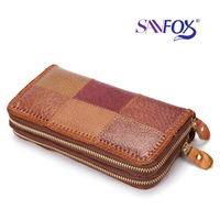National characteristics of hand leather wallet Vintage Leather fight double purse tourism products