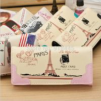 Promotion! Freeshipping! 2014 New Modern Hasp Women Wallet Paris Towel Printed Bags Women,women purse