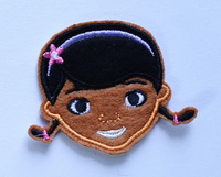 Lovely Doctor Doc McStuffins iron on applique or Sew fashion embroidery applique patches cartoon garment