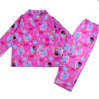 wholesale 2014 Spring Winter frozen girls clothing sets brand kids frozen pajamas elsa anna children's pajamas christmas pyjamas