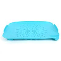 Candy color ultra convenient kitchen draining plate / Vegetable & Fruit disc -  blue  color