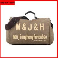 New Korean fashion casual letter M bag shoulder/Messenger bag canvas bag handbag men bag
