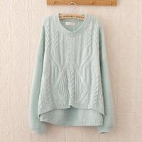 2014 Hitz Korean small fresh macarons before long and short twist sweater hedging sweater female Korean version